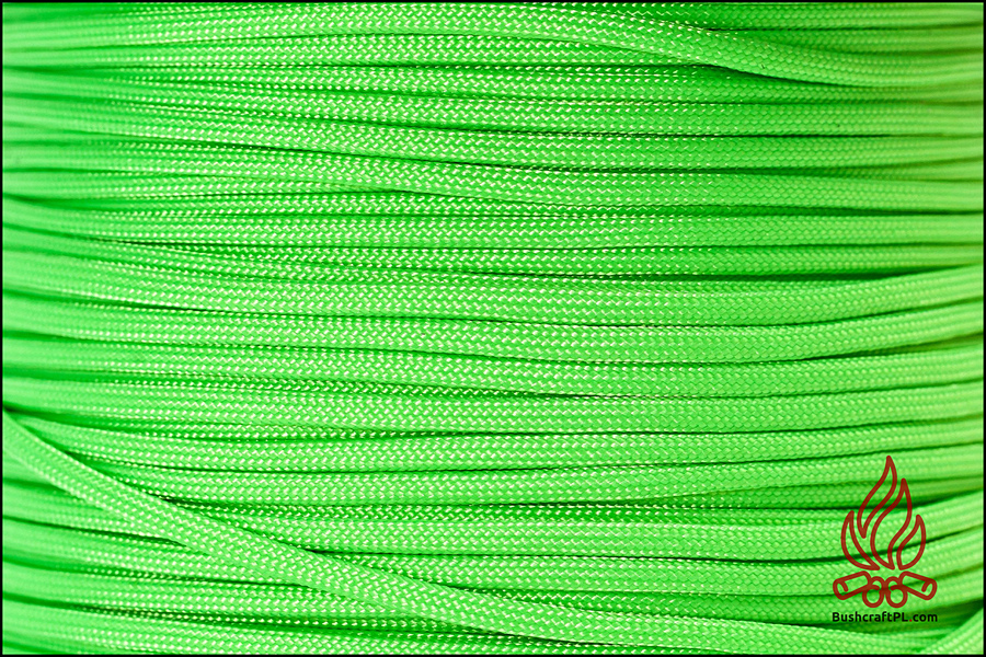 Paracord 550, Made in USA Zielony Neon / Safety Green